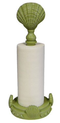 Clam Shell Standing Paper Towel Holder, Coastal Green Color Finish