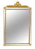 Loop Bow Top Wall Mirror Antique Reproduction in 60 Colors