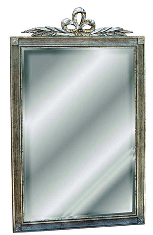 Bow Top Beveled Wall Mirror Antique Reproduction in Shimmer Color Finish