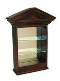 Colonial-Style 3-Shelf Wall Curio Cabinet in 60 Colors