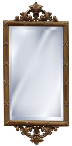 Acanthus Leaf Top & Bottom Wall Mirror Antique Reproduction in 60 Colors