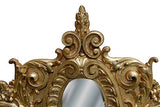 Scrolled Acanthus Oval Wall Mirror Antique Reproduction in 60 Colors