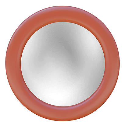 Mod Round Wall Mirror In Coral Color Finish