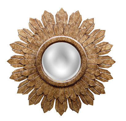 Starburst Wall Mirror Antique Reproduction, Etineene Gold Color Finish