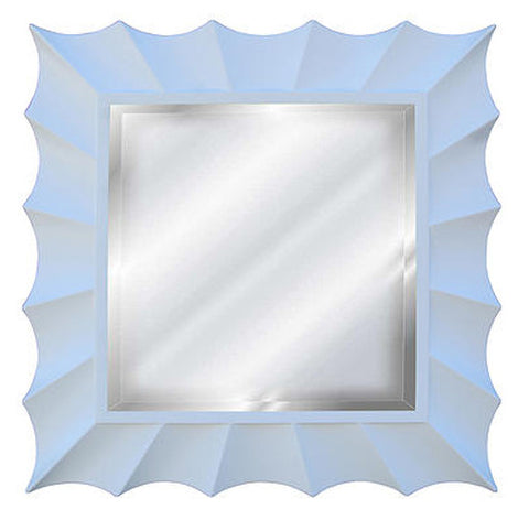 Sunburst Square Wall Mirror, Bright White Color Finish