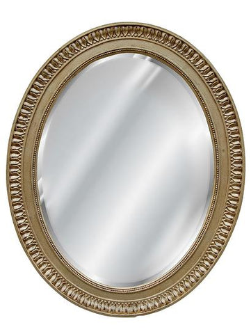 Ornate Oval Wall Mirror in 60 Colors