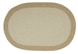 100% All Natural Wool Traditional Braid Oval Rug, HN01 Natural