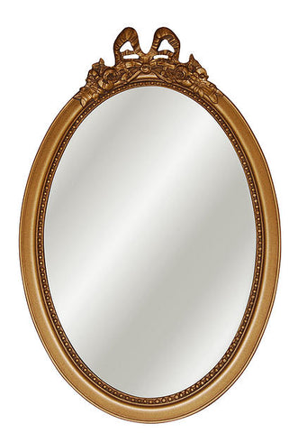 Bow Top Oval Wall Mirror Antique Reproduction in 60 Colors