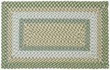 Montego Indoor Outdoor Rectangle Braided Rug, MG19 Lily Pad Green