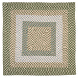 Montego Indoor Outdoor Square Braided Rug, MG19 Lily Pad Green