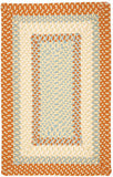 Montego Indoor Outdoor Rectangle Braided Rug, MG29 Tangerine