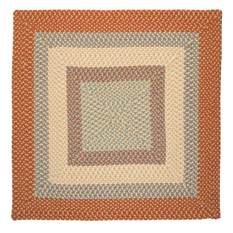 Montego Indoor Outdoor Square Braided Rug, MG29 Tangerine