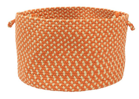 Montego Indoor Outdoor Round Braided Basket, MG29 Tangerine