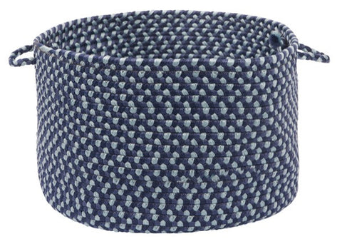 Montego Indoor Outdoor Round Braided Basket, MG59 Blue Burst