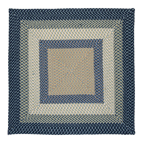 Montego Indoor Outdoor Square Braided Rug, MG59 Blue Burst