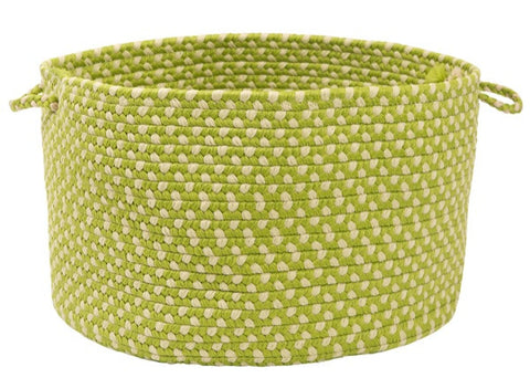 Montego Indoor Outdoor Round Braided Basket, MG69 Lime Twist