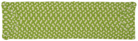 Montego Indoor Outdoor Rectangle Braided Stair Tread, MG69 Lime Twist