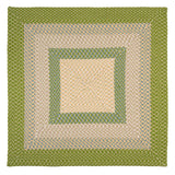 Montego Indoor Outdoor Square Braided Rug, MG69 Lime Twist