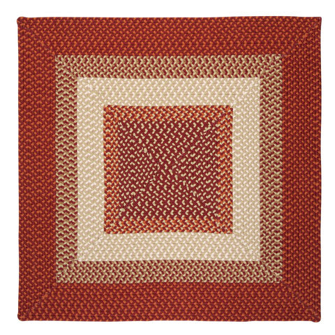 Montego Indoor Outdoor Square Braided Rug, MG79 Bonfire
