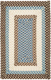 Montego Indoor Outdoor Rectangle Braided Rug, MG89 Bright Brown