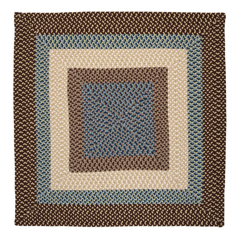 Montego Indoor Outdoor Square Braided Rug, MG89 Bright Brown