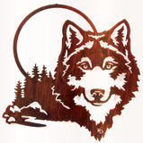 Wolf in the Moonlight Metal Wall Art