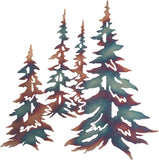 "Multiple Pine Trees Metal Wall Art, 21"" width x 20"" height"