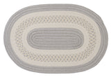 Crescent Indoor Outdoor Oval Braided Rug, NT31 Silver
