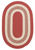 Crescent Indoor Outdoor Oval Braided Rug, NT71 Terracotta