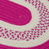 Crescent Indoor Outdoor Oval Braided Rug, NT72 Magenta