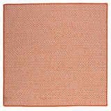 Houndstooth Tweed Indoor Outdoor Square Braided Rug, OT19 Orange