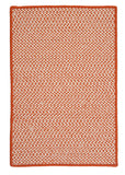Houndstooth Tweed Indoor Outdoor Rectangle Braided Rug, OT19 Orange