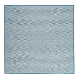 Houndstooth Tweed Indoor Outdoor Square Braided Rug, OT56 Sea Blue