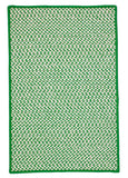 Houndstooth Tweed Indoor Outdoor Rectangle Braided Rug, OT67 Grass Green
