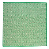 Houndstooth Tweed Indoor Outdoor Square Braided Rug, OT67 Grass Green