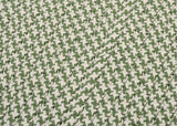 Houndstooth Tweed Indoor Outdoor Square Braided Rug, OT68 Leaf Green