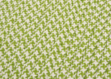Houndstooth Tweed Indoor Outdoor Square Braided Rug, OT69 Lime Green