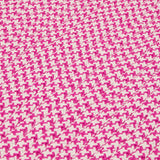 Houndstooth Tweed Indoor Outdoor Braided Rectangle Stair Tread, OT78 Magenta
