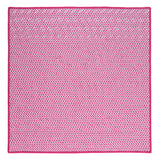 Houndstooth Tweed Indoor Outdoor Square Braided Rug, OT78 Magenta