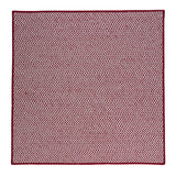 Houndstooth Tweed Indoor Outdoor Square Braided Rug, OT79 Sangria