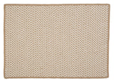 Houndstooth Tweed Indoor Outdoor Rectangle Braided Rug, OT89 Cuban Sand