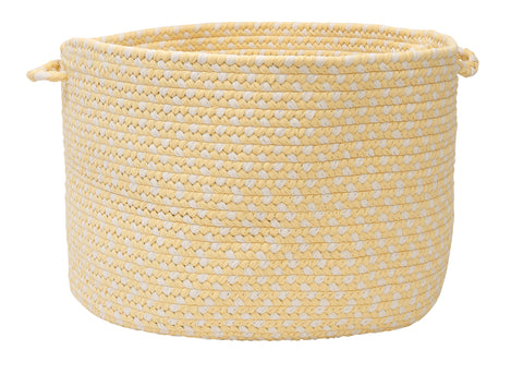 Carousel Indoor Outdoor Round Braided Basket, OU39 Sun Squeeze