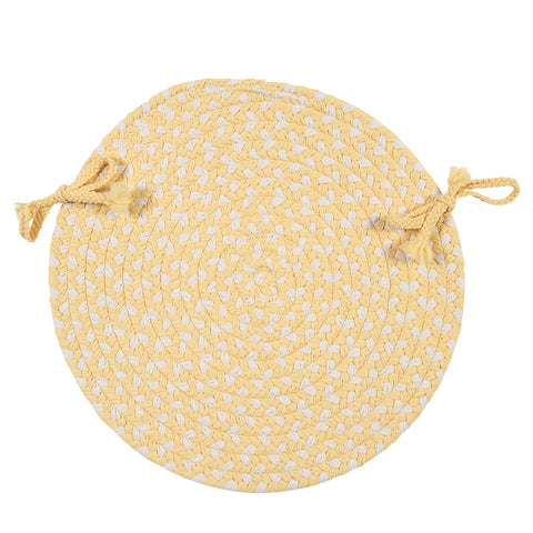 Carousel Indoor Outdoor Round Braided Chair Pad, OU39 Sun Squeeze