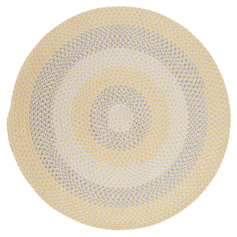 Carousel Indoor Outdoor Round Braided Rug, OU39 Sun Squeeze