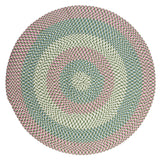 Carousel Indoor Outdoor Round Braided Rug, OU69 Bubble Green