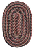 Rustica Oval Braided Wool Rug, RU40 Stone Harbour