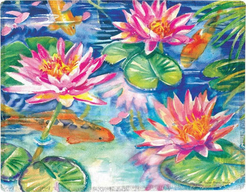 "Waterlilies by Andrea Brooks Studios Polyester Throw 50""x60"""
