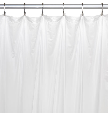 Frosty Clear 5 Gauge Vinyl Shower Curtain Liner In 3 Sizes