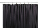 "Black 5-Gauge Vinyl Extra Long 72""x84"" Shower Curtain Liner"