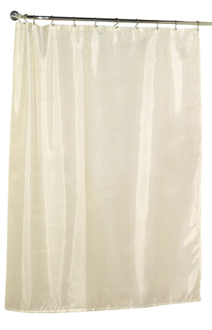 "Ivory 108""x72"" Water Resistant Fabric Shower Curtain with Weighted Bottom"